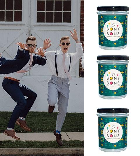 Dárkové balené cukrovinek pro muže. 3 ks bonbónů originálních příchutí